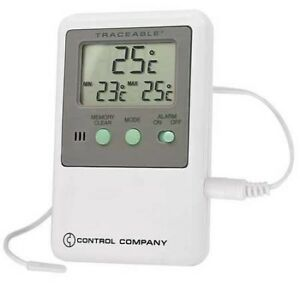 Control Company 4048 Traceable Memory Monitoring Thermometer With Probe Probe D