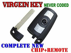 New Virgin Smart Key Comfort Access Key Remote Keyless Go Entry For Bmw Cas3