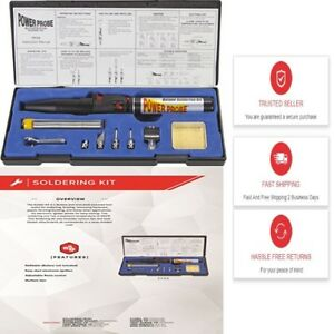 Soldering Kit Power Probe Butane Tool Flame Torch Iron Cordless Welding Gas New
