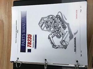 Takeuchi Tb235 Parts Manual S n 123500001 And Up Free Priority Shipping
