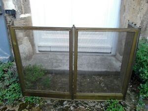 French Antique Vintage Fireplace Screen Mesh Panel