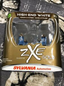 Sylvania Silverstar Zxe Gold H11 Pair Set Headlight Bulbs Xenon Fueled New