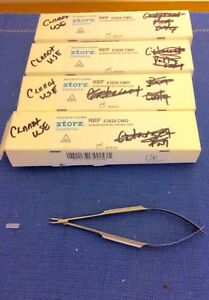 Storz E3828 Cwo Barraquer Curved Delicate Needle Holder New In Box Guaranteed