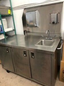 Stainless Steel Portable Sink W Water Heater Backsplash