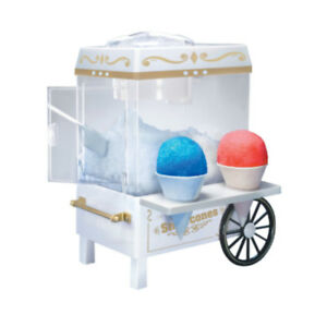 Snow Cone Maker Cart Shaved Ice Cube Machine Home Shaver Crusher Old Fashioned