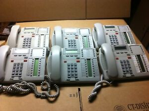Nortel Norstar Bcm T7316 Telephones platinum Color Lot Of Six 6