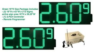 Led Gas Price Signs New Green 2 16 X 39 Remote Control Full Package