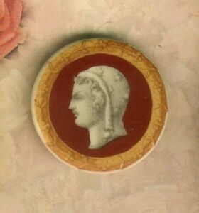 Large European Porcelain Multi Color Classical Head Button