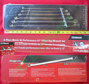 New Snap On 12 Pts Hi performance 15 Offset Metric Box Wrench 6 Pcs Set Xdhm606