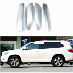 For Toyota Highlander 2008 2013 Silver Roof Rack Rail End Cover Replace 4pcs