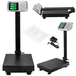 100kg 220 Backlit Lcd Digital Floor Platform Postal Scale Weight Price Computing