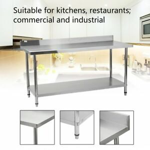 30 X 72 Work Table Stainless Steel For Kitchen Restaurant With Backsplash Hg