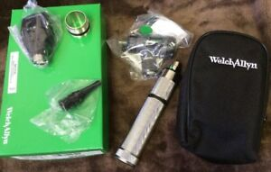 New Welch Allyn 3 5v Coaxial Otoscope Ophthalmoscope Diagnostic Set 97201 ms