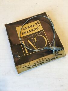 Nos Mint 57 Chevrolet Car Windshield Wiper Switch Control Cable 57 Chevy Oem