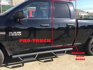 10 18 Dodge Ram 1500 2500 3500 Quad Cab Blk Drop Steps Running Boards Nerf Bars
