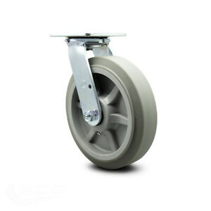 Scc 8 X 2 Thermoplastic Rubber Wheel Swivel Caster 600lbs caster