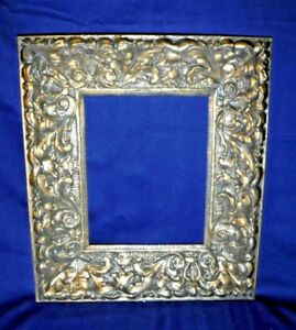 Antique Vintage Wood Plaster Picture Frame Highly Detailed Ornate 8 X 10 Scroll