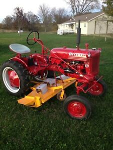 1954 Farmall Cub With Woods 59 Belly Mower parade Ready