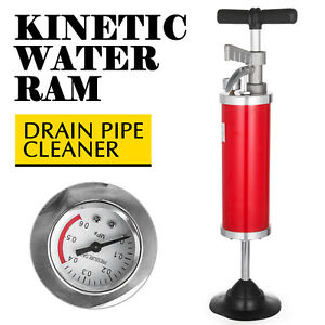 General Pipe Cleaners Kinetic Water Ram Drain Cleaning Tool With 4 Rubber Cone