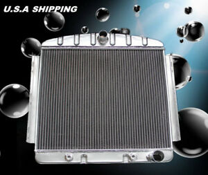 3 Rows Kks Aluminum Radiator 1955 1956 Chevy Belair Bel Air 6cyl Core Support
