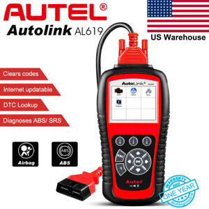 Autel Al619 Obd2 Auto Diagnostic Tool Can Code Reader Srs Abs Engine Us Version