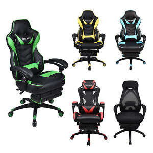Ergonomic High Back Office Gaming Chair Executive Adjustable Computer Desk Task