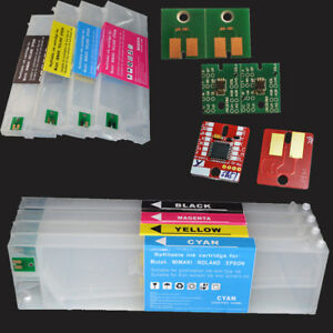 Refillable Cartridge With Permanent Arc Chip For Roland Eco sol Max 4pcs set