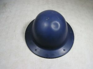 Vintage antique B f Mcdonald Los Angeles Blue Steel Construction Hard Hat Usa