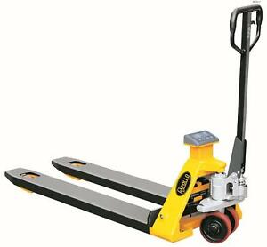 Apollolift Scale Manual Pallet Jack Truck 4400lbs Capacity 48 l 27 w Fork