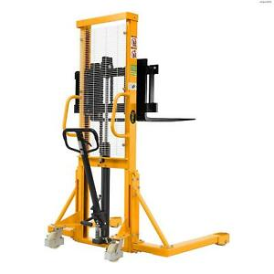 Apollolift Manual Pallet Stacker 2200lbs Capacity 63 Lift Height Adjustable For