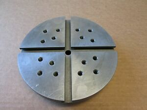 Hardinge T slotted Fixture Plate 7 Dia C26d Thrd Mount Very Good Condition