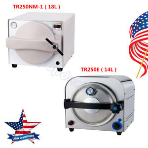 Usa 14 18 Liter Dental Autoclave Steam Sterilizer Medical Sterilization Ce Fda