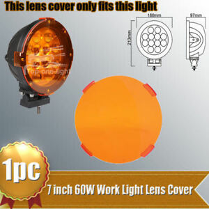1x Snap On Amber Lens Cover For 7 Inch 60w Led Work Driving Fog Light 4wd Jeep