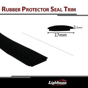 Black Rubber Seal Strip Trim Auto Window Edge Anti dust Rub Weatherstrip 30ft