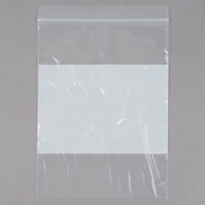 4mil Resealable Poly Ziplock Bags With White Block Fda Usda Approved