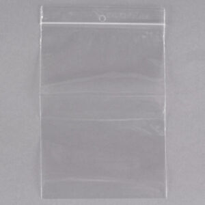 Resealable Poly Ziplock Bags 4mil With Hang Hole Fda Usda Approved