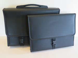 Leather File Organizer Carrier Expanding Storage Set Of 2