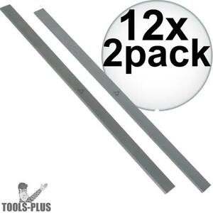 Delta 22 547 12 High Speed Steel Genuine Delta Planer Blades 12x 2pk New