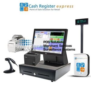 Point Of Sale System Retail Clothing Store Pos Complete Cre And Barcode Printer