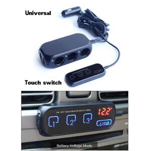 Brand New Car Usb Cigraette Lighter Port Socket Adapter With Touch Button