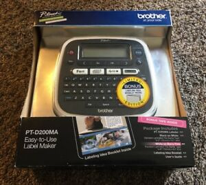 New Brother P touch Pt d200ma Easy to use Label Maker W Bonus Opened Box