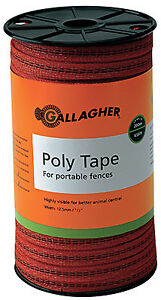 Gallagher North America Electric Fence Polytape Orange 1 16 in X 656 ft