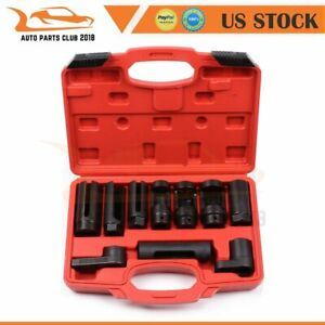 Oxygen Sensor Socket 10pcs Tool Set Sensor Oil Pressure Sending Unit Socket Kit