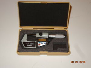 Mitutoyo 293 765 10 Electronic Digital Micrometer 0 To 1