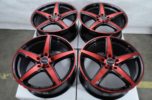 17 Wheels Fit Accord Civic Optima Elantra Jetta Corolla Camry Black Red Rims