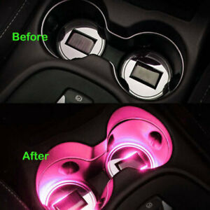 Car Solar Cup Holder Bottom Pad For All Car Cup Holder Universal Light Pink