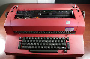 Vintage Ibm Red Correcting Selectric Ii Typewriter For Parts Or Repair