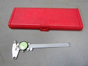 Mitutoyo 505 637 001 50 Stainless Steel Machinist Dial Calipers 6 In Hard Case