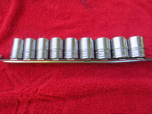 Snap On 1 2 Drive Shallow Socket Set Metric 15 24mm 6 Point 9 Piece