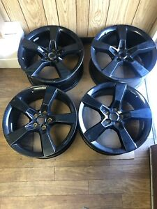12 2013 2014 2015 Chevrolet Camaro 20 5 Spoke Oem Black Wheel Rim Set 5529 5531